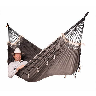 Brazilian double cotton black hammock