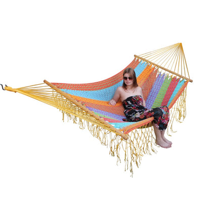 Cotton outdoor spreader bar hammock