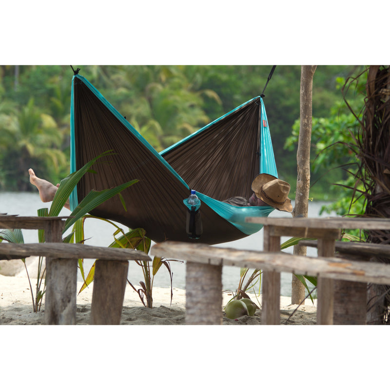 Double size easy hang camping hammock