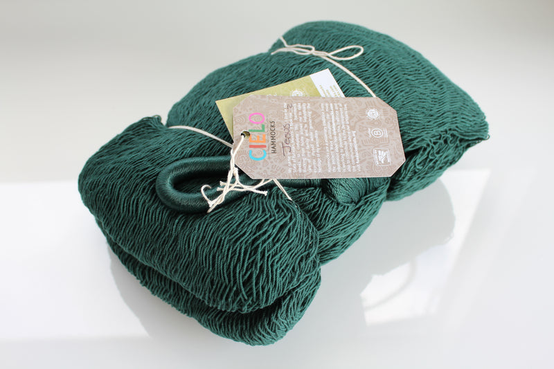 Forest Green Cotton Mexican Hammock