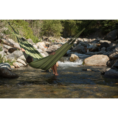 Forest coloured outdoor hammock