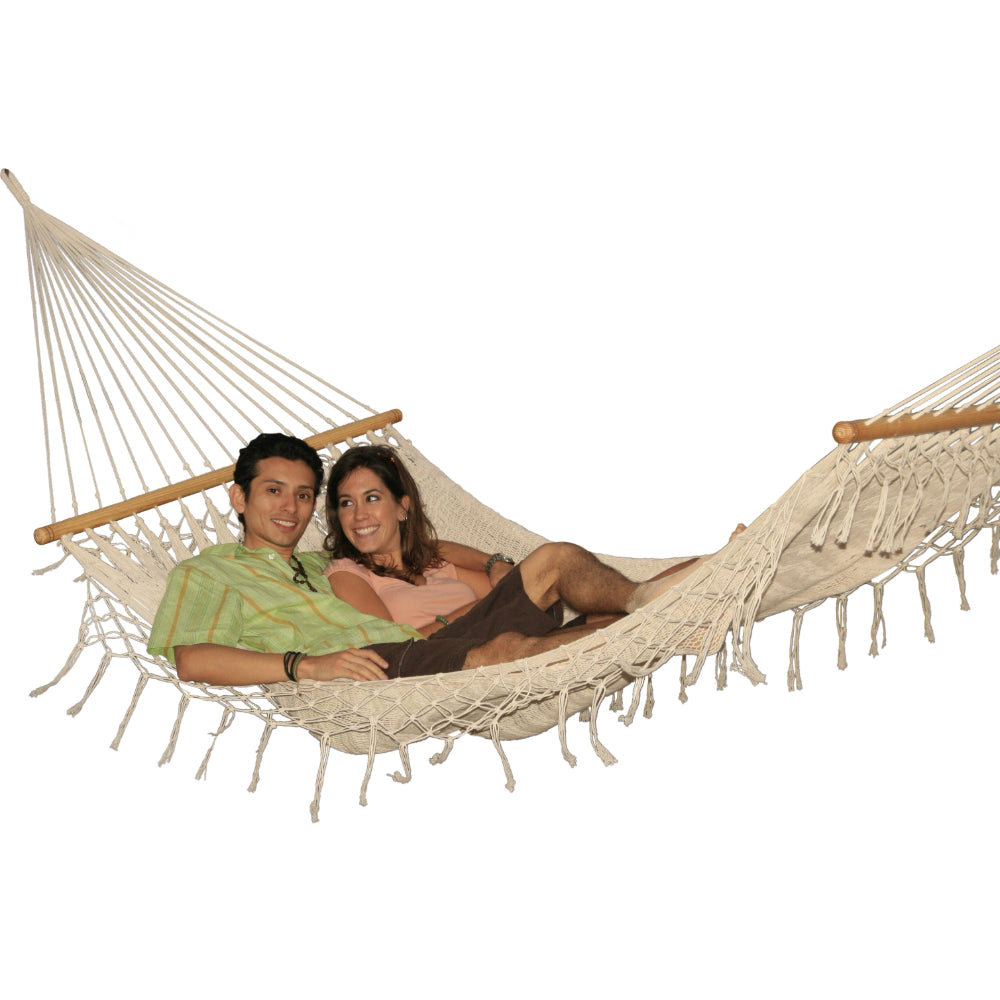 Two person bar hammock - white