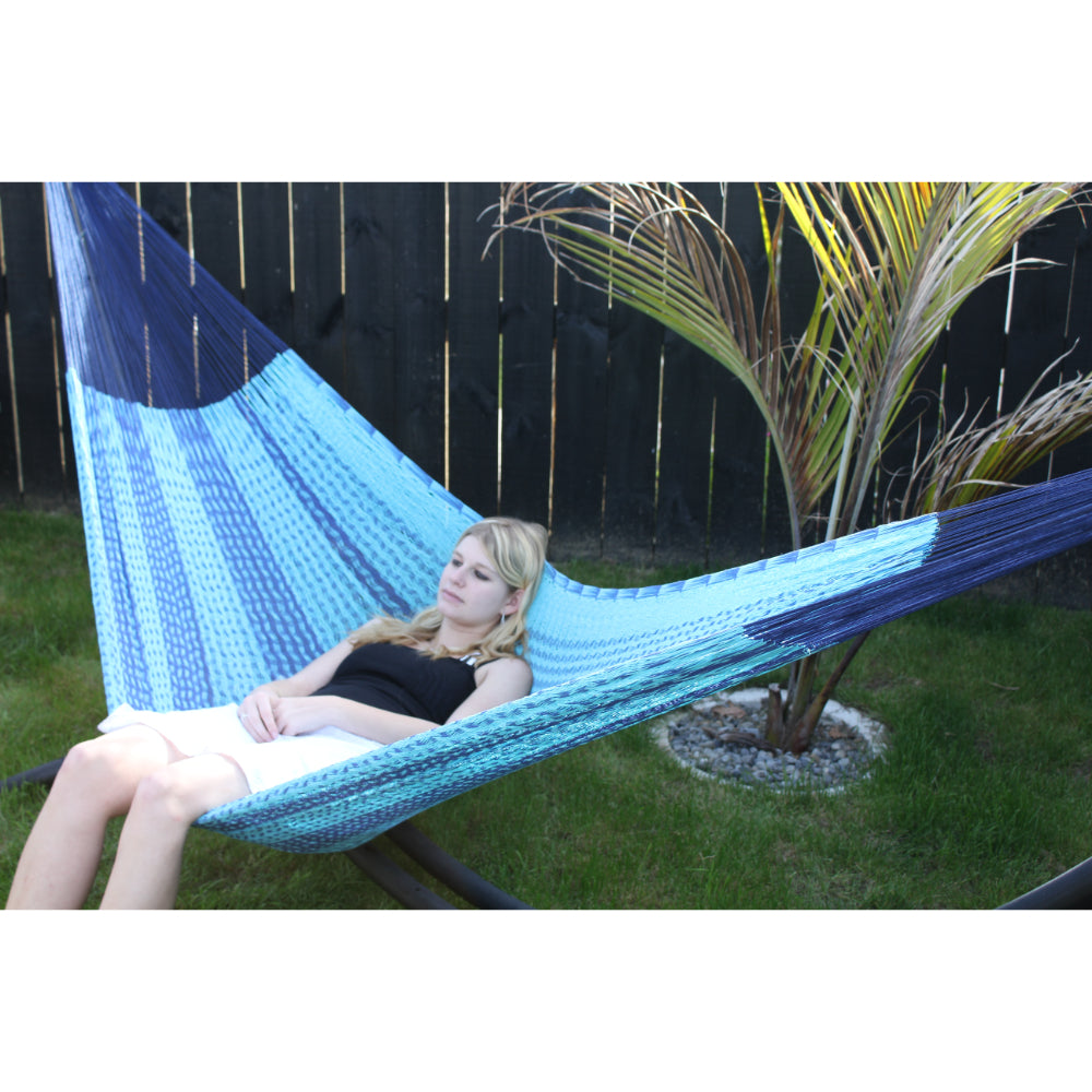 Mexican hammock two tone blue