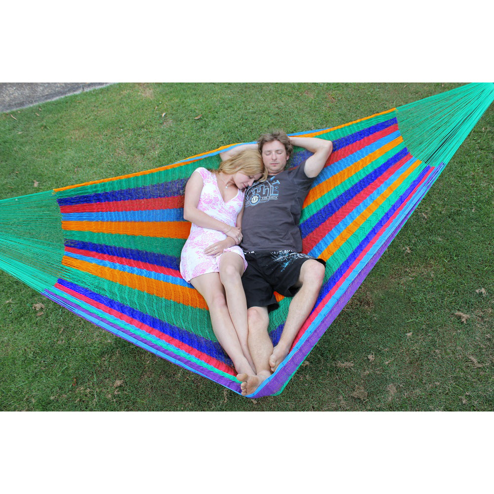 Green ends Mexican coloured hammock