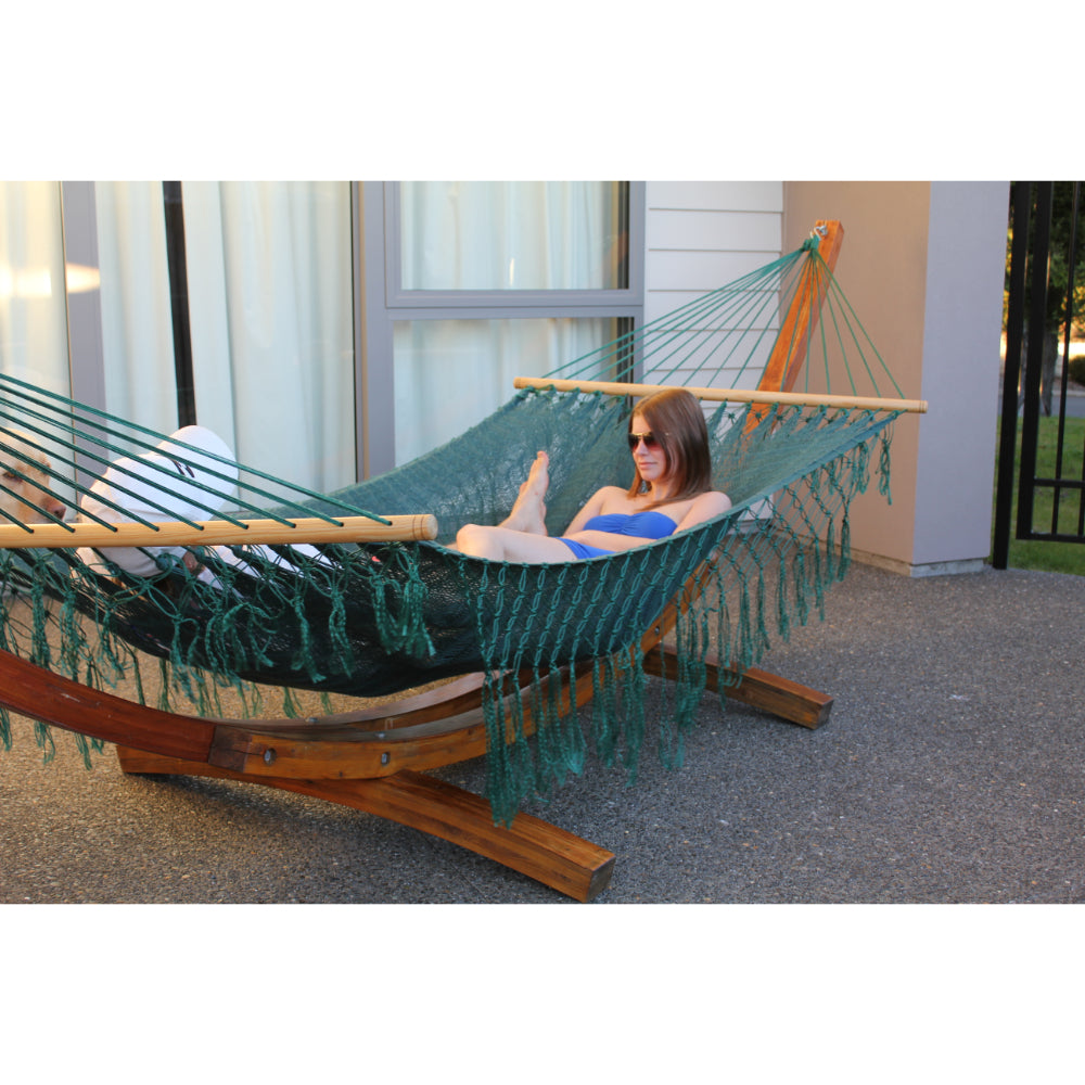 Green spreader bar hammock