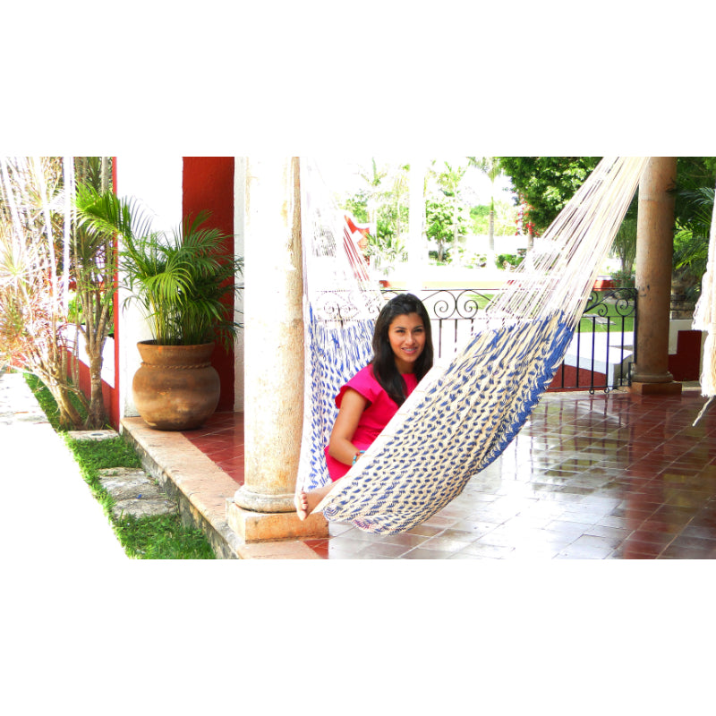 Yucatan hammock - blue and white