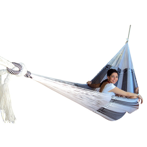 Mexican King Size Resort Style Hammock - Off White