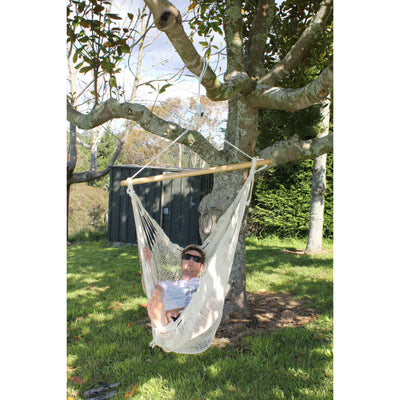 Outdoor garden chair hammock - white