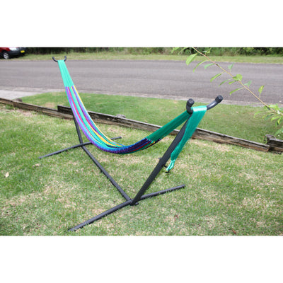 Metal Hammock Stand and Colombian Single Hammock Package