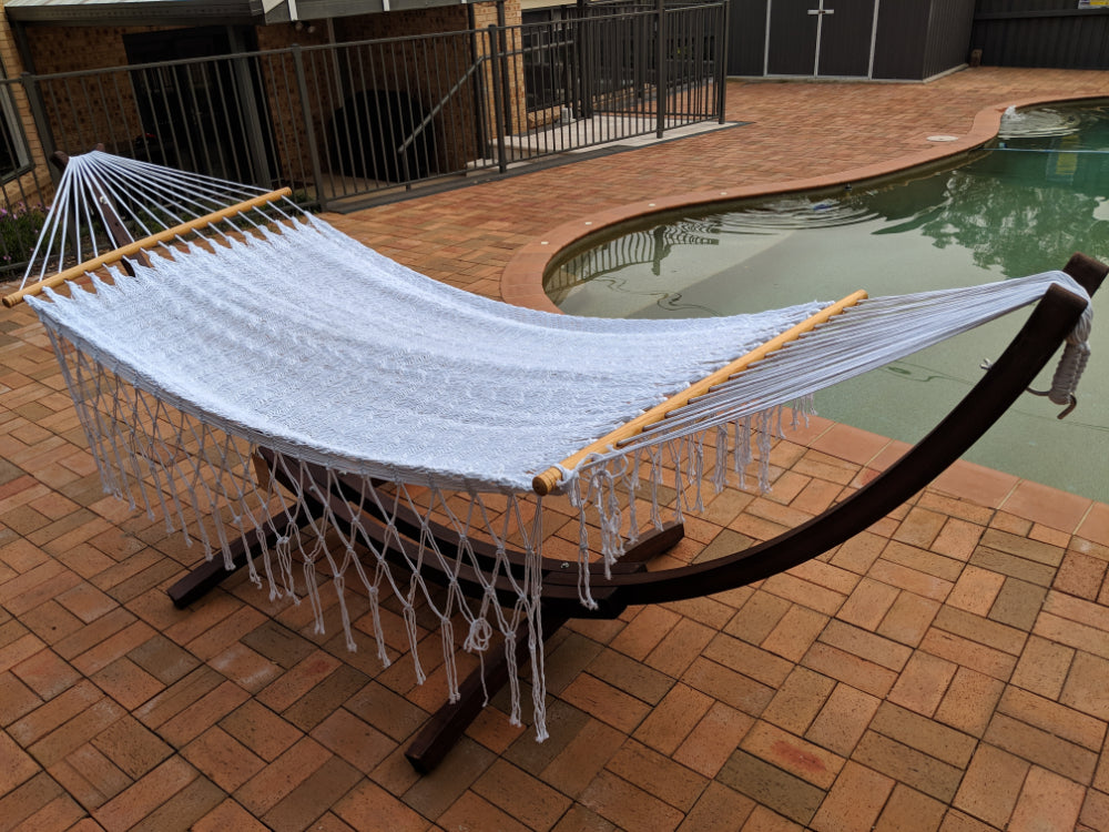 Mexican Made Polyester Hammock and Stand