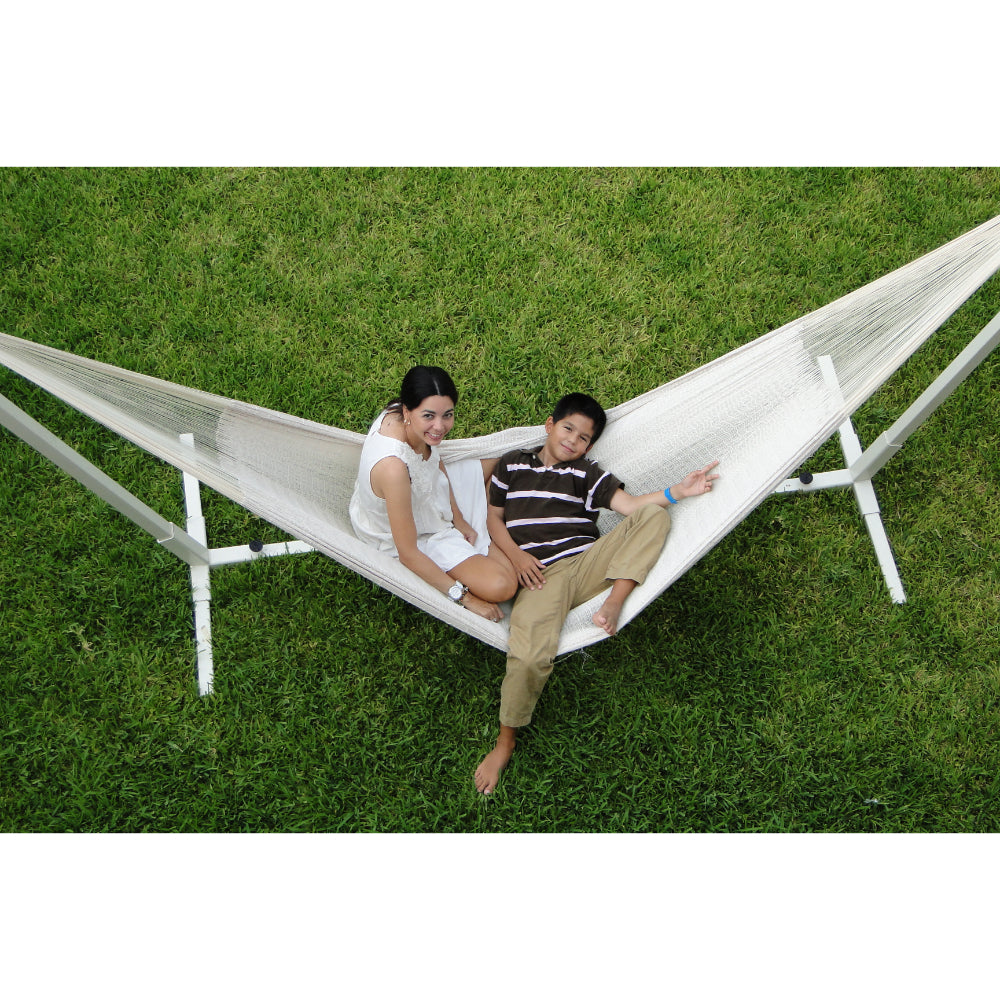 White Cotton Mexican Handmade Hammock