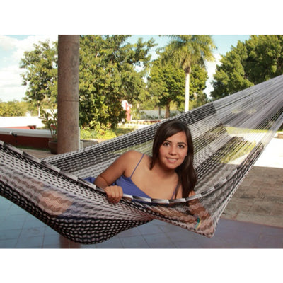 Mexican black and white hammock