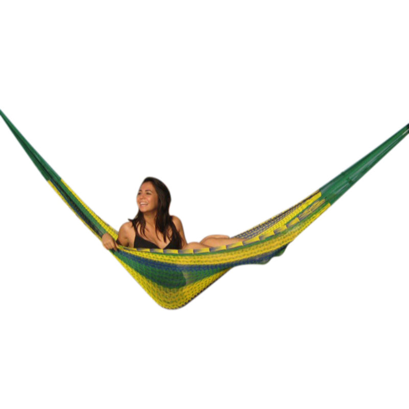 Cotton tropical Mexican woven hammock