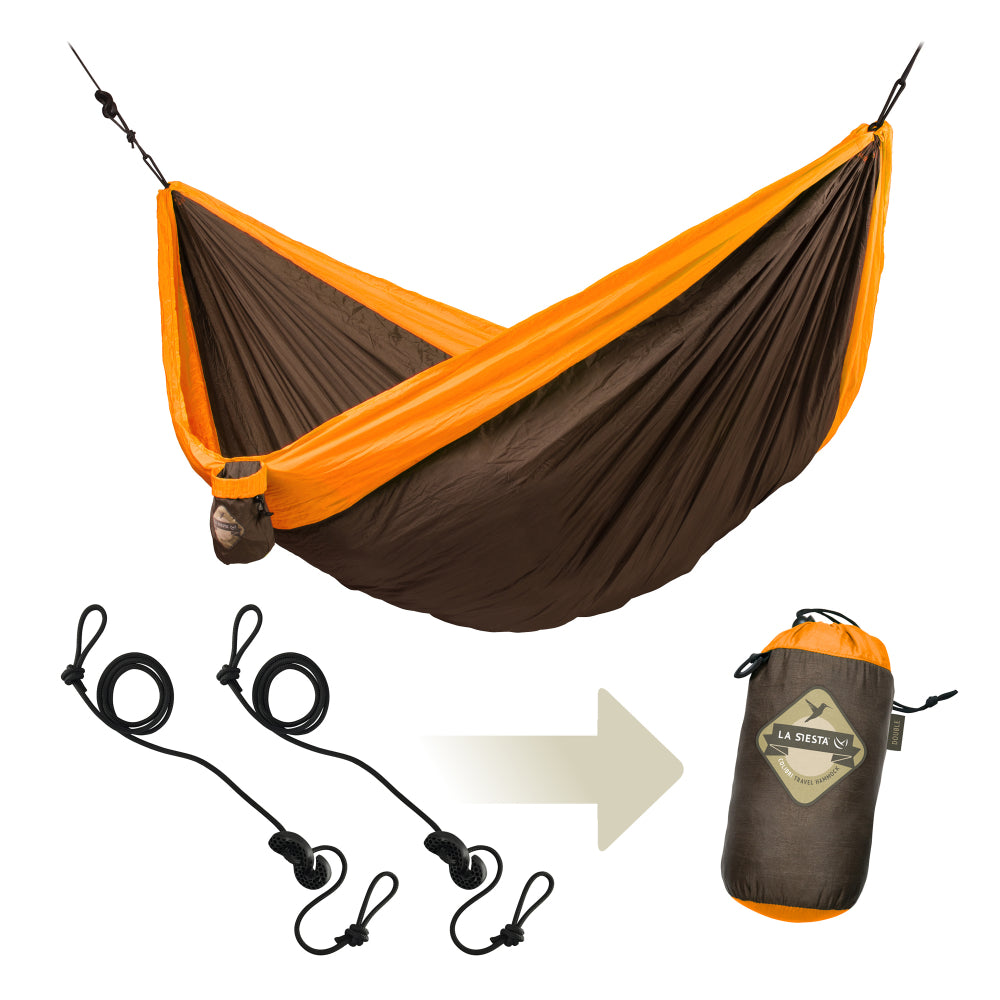 Outdoor hammock with included hanging accessories
