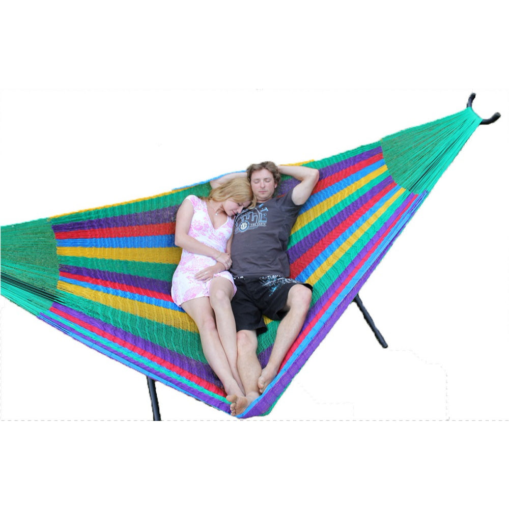 Metal Hammock Stand and Mexican Queen Hammock Package