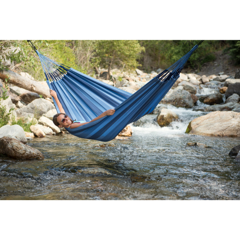 Two person blue outdoor hammock