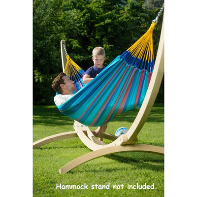 Wooden hammock stand and single hammock