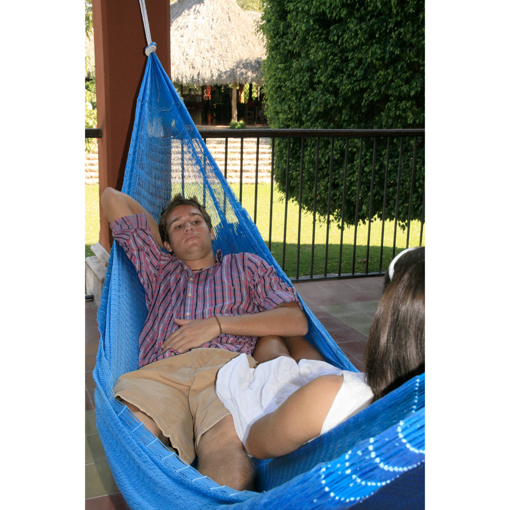 Two person blue hammock