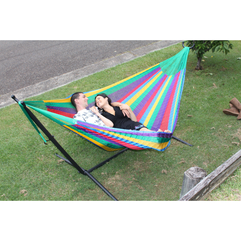 Two person hammock and frame