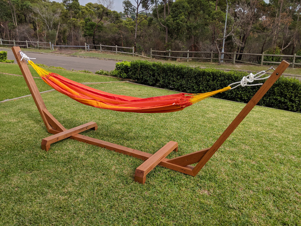 Timber Hammock Stand and Single Hammock