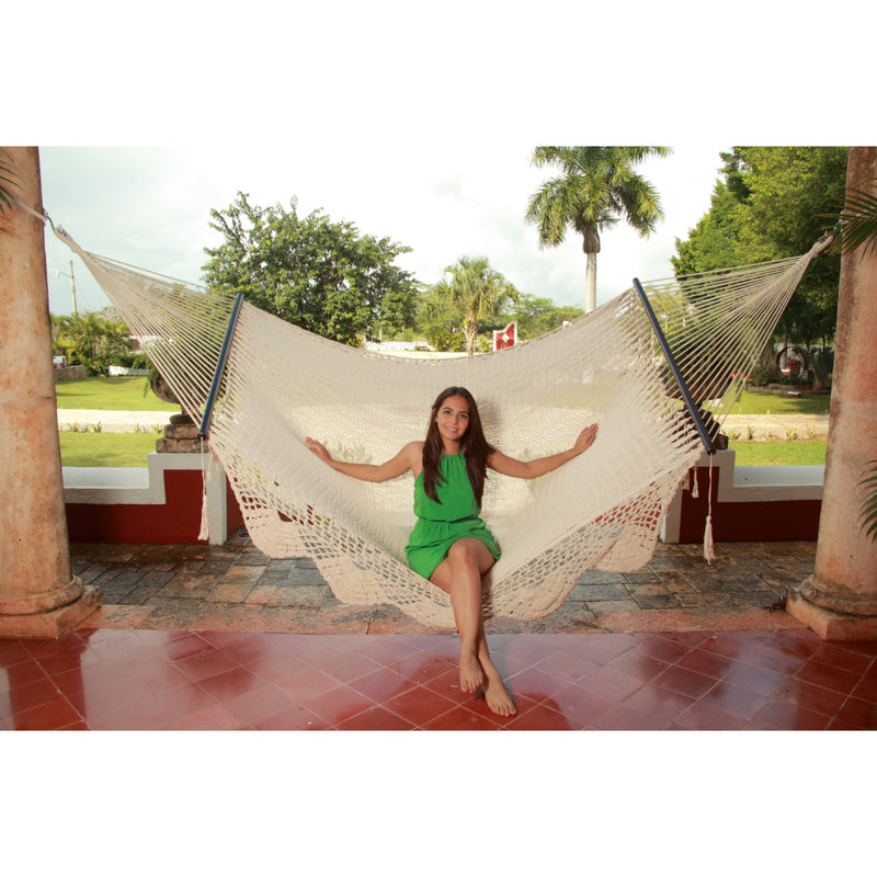 Fair Trade Hammock - White Woven Cotton