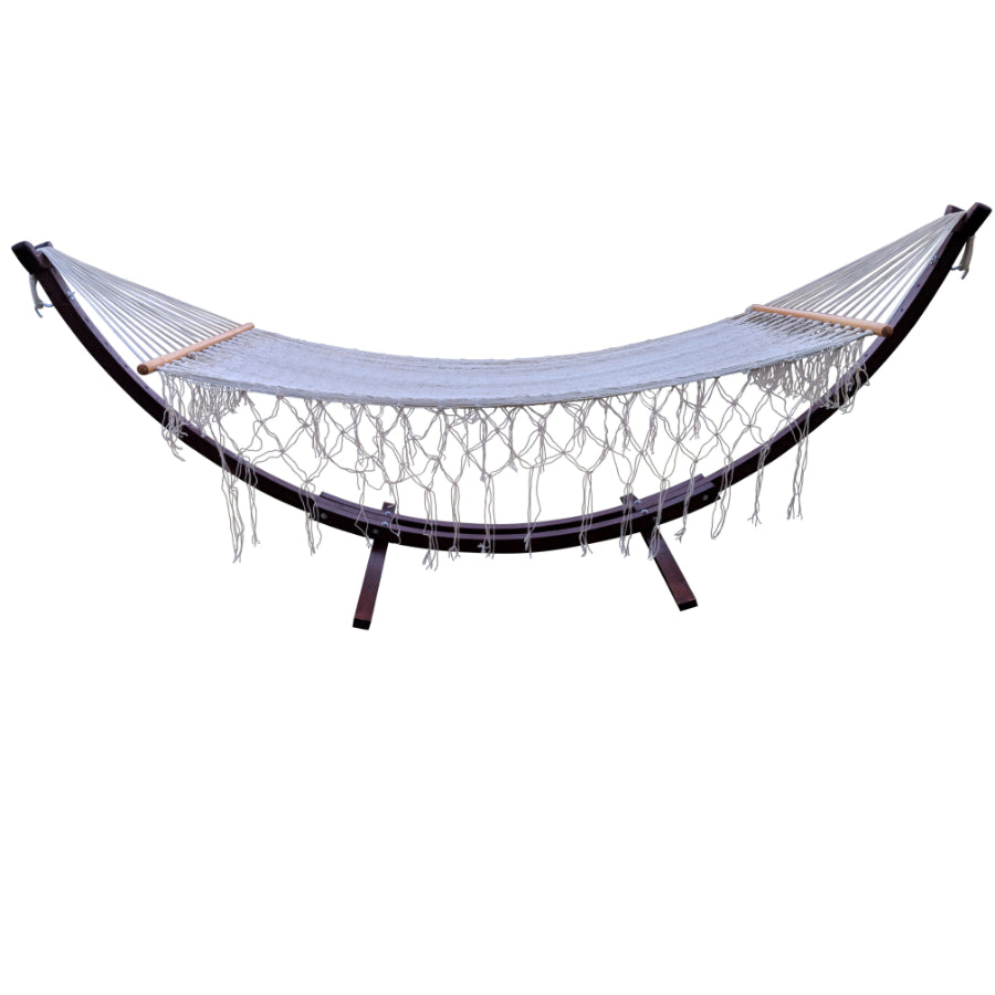 Wooden hammock and stand