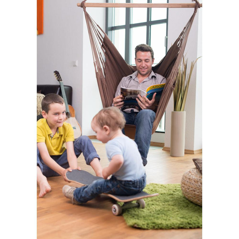 Cotton chair hammock for indoor use