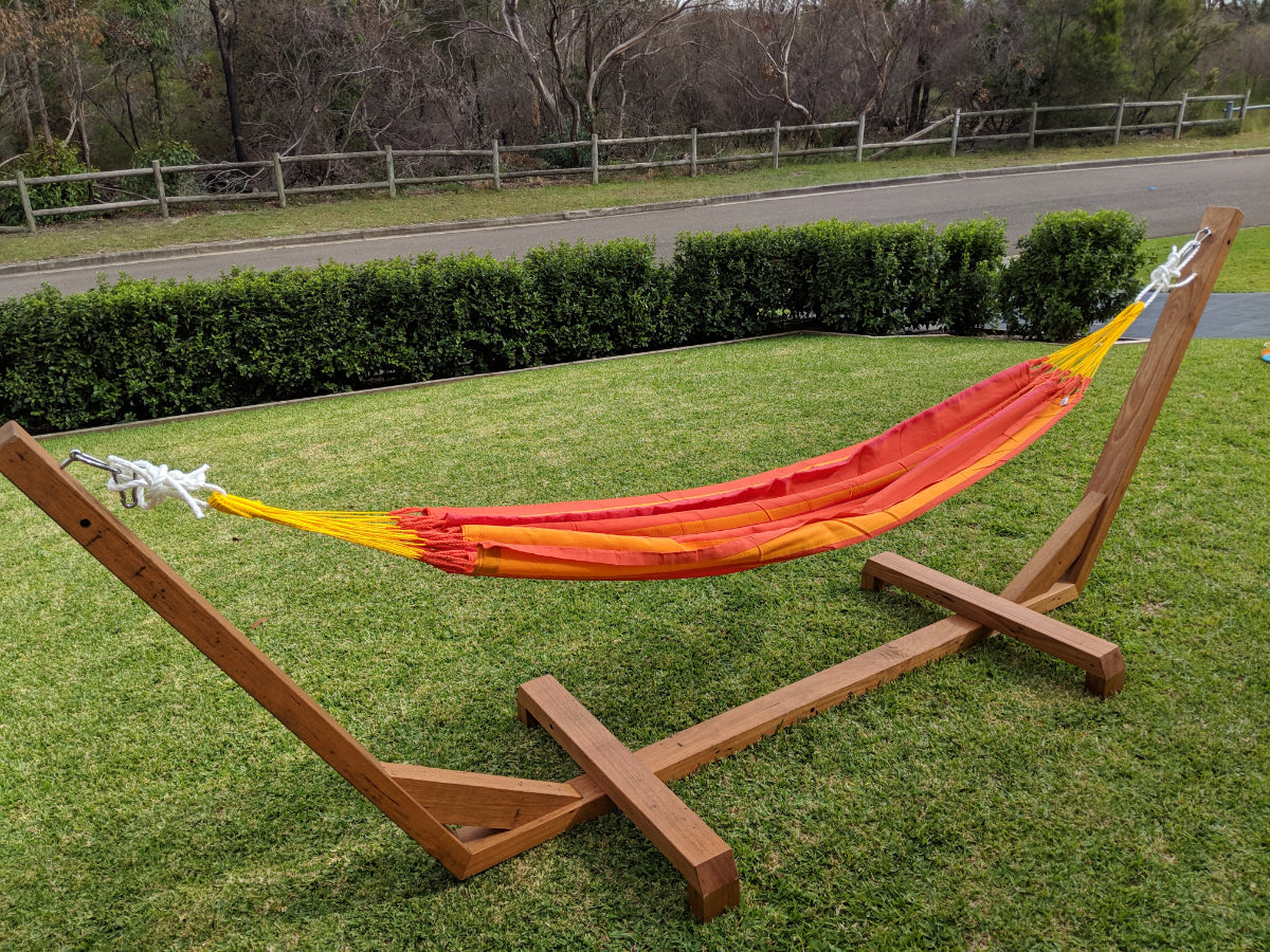 Australia Made Hammock Stand - Solid Timber