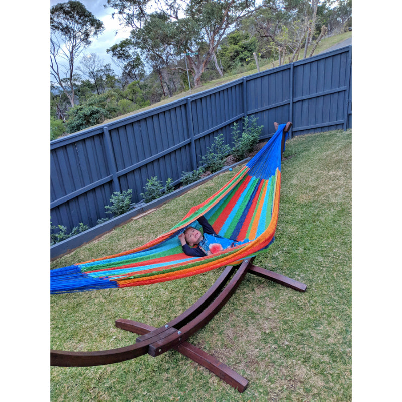 Wooden hammock and mexican king hammock