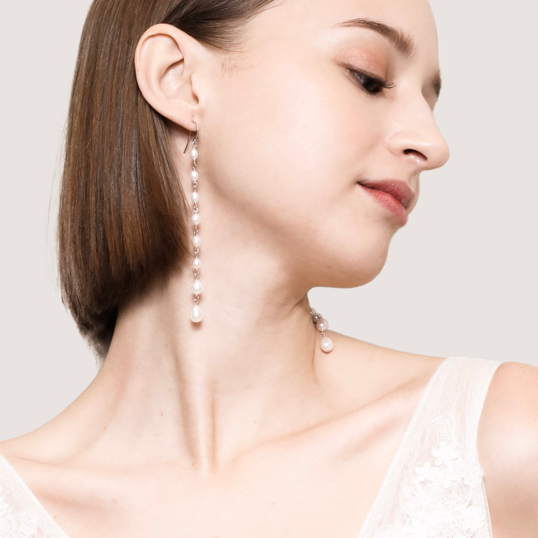 CHAIN OF PEARLS EARRINGS