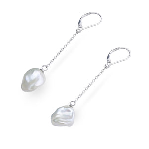 KESHI PEARL DANGLING EARRINGS