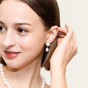 MODERN ELEGANCE PEARL EARRINGS