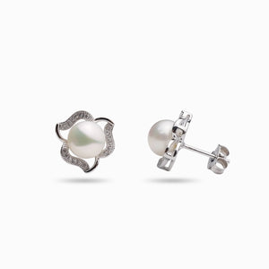 LUCKY CLOVER PEARL EARRINGS