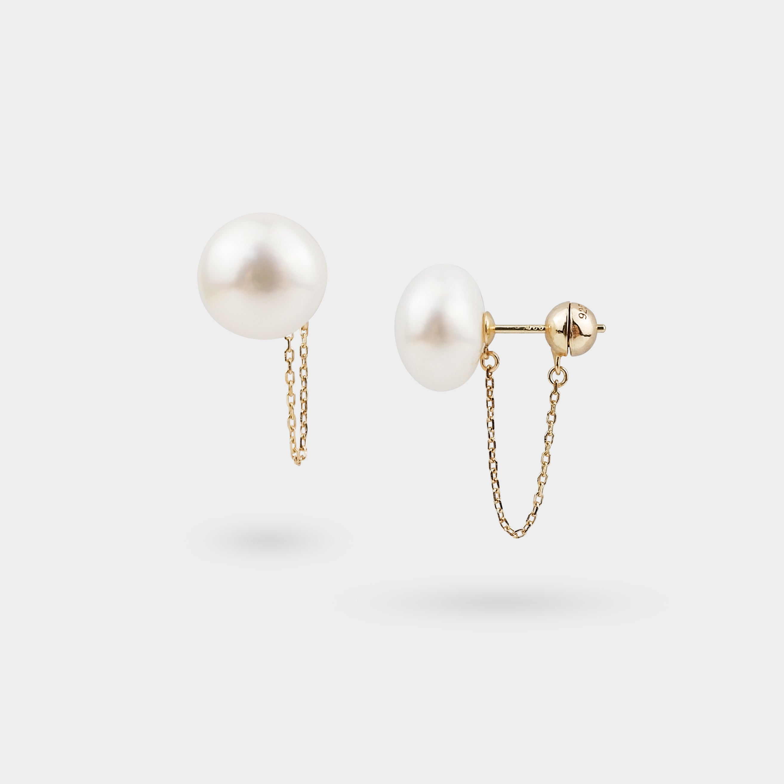OILLE PEARL CHAIN EARRINGS