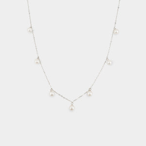 Open image in slideshow, RAIN DROP PEARL NECKLACE