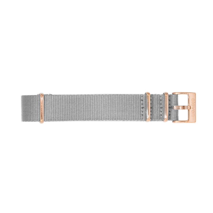 11 Band - Gold/Gray Nylon