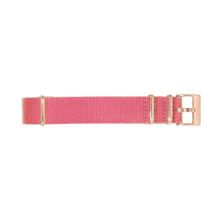 11 Band - Gold/Pink Nylon
