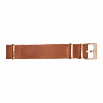 11 Band - Gold/Brown Leather