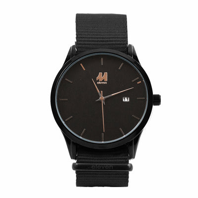 11 Watch - Black/Black Nylon