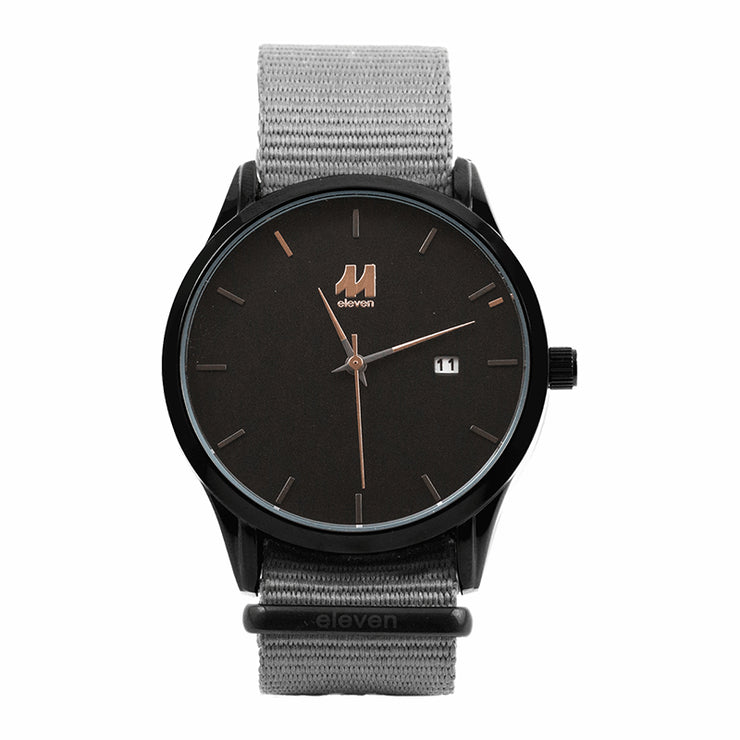 11 Watch - Black/Gray Nylon