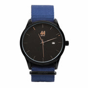 11 Watch - Black/Blue Nylon