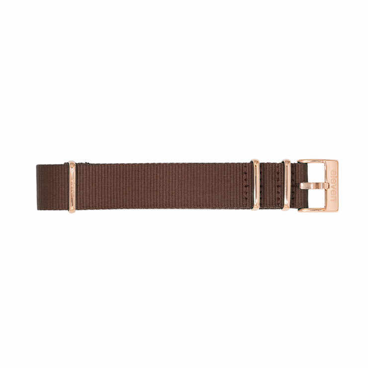 11 Band - Gold/Brown Nylon