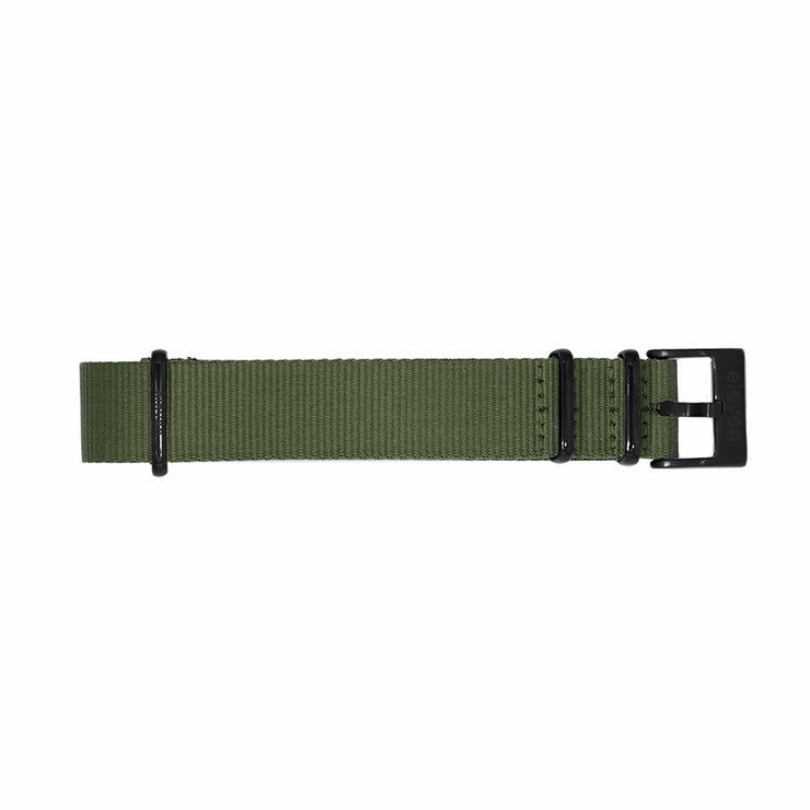 11 Band - Black/Green Nylon