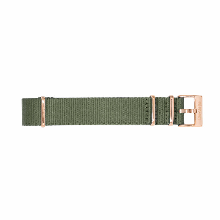 11 Band - Gold/Green Nylon