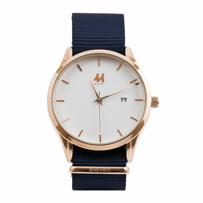 11 Watch - Gold/Navy Nylon