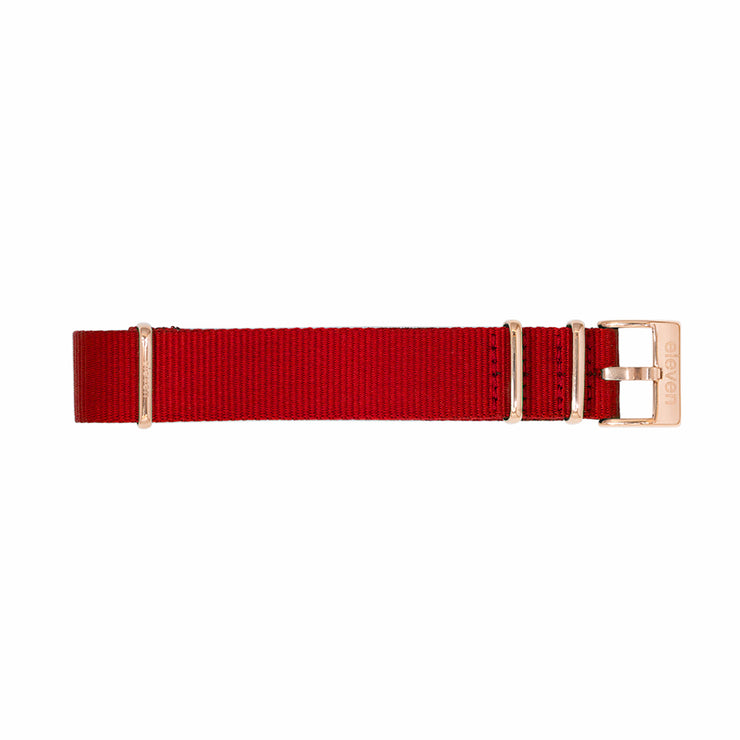 11 Band - Gold/Red Nylon