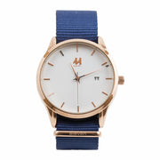 11 Watch - Gold/Blue Nylon