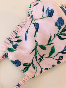 Pink Floral Organic Cotton Face Covering