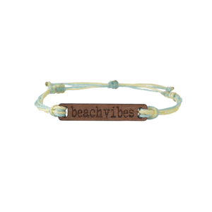 Beach Vibes Wooden String Bracelet