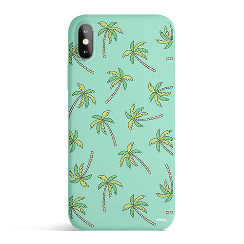 Aloha Trees - Colored Candy Matte TPU iPhone Case Cover